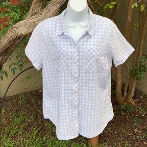 Eddie Bauer Women's Short Sleeve Shirt XL